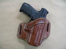 Walther PPQ M1/M2 9mm / .40 Leather 2 Slot Molded Pancake Belt Holster TAN RH