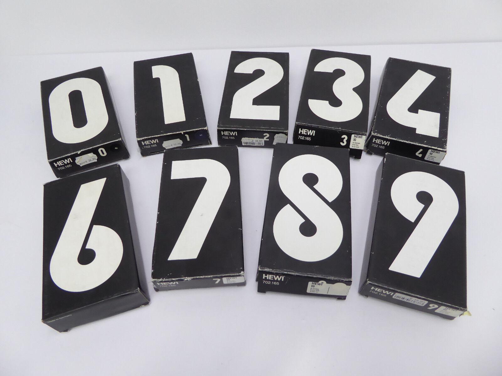9 H/öhe 165mm Nr Hewi Hausnummer 702.165 Farbe 99=reinwei/ß