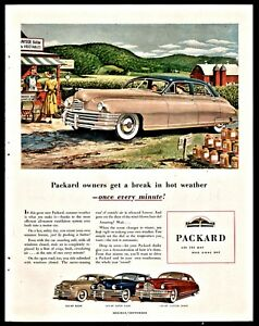 1948 Packard 4 Dr Sedan Vintage Antique Car Ad Roadside Farm Stand