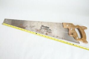 Vintage-Disston-D-23-26-034-Blade-Hand-Saw-Crosscut-Etched-Handle