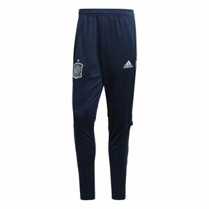 Adidas-Fussball-Herren-Spanien-Trainingshose-Lange-Hose-EM-2020-marine