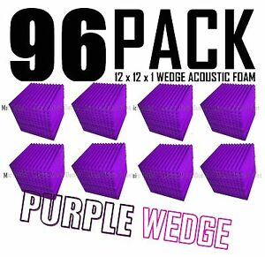 Acoustic-Foam-96-Pack-12x12x1-Purple-Wedge-Tiles-for-Soundproofing-and-Recording