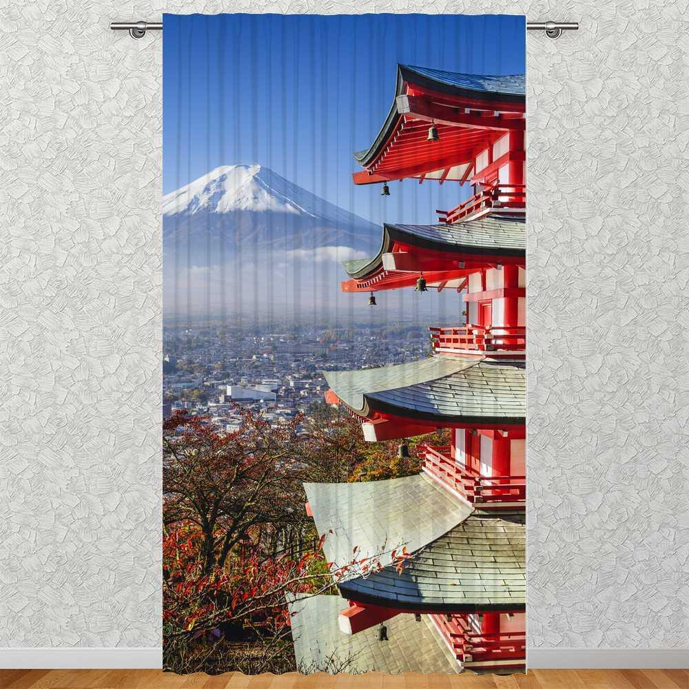 Sipario  Fujiyama Giappone  135 x 245 cm   Foto sipario motivo Tessile Stampa Immagine