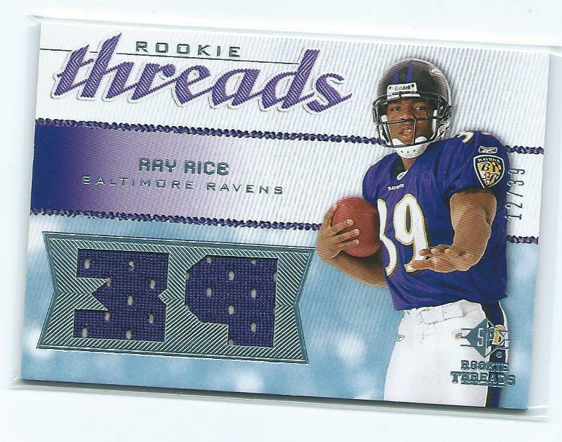 2008 Rookie Threads=Ray Rice dual jersey /39-Ravens/Rutgers ...