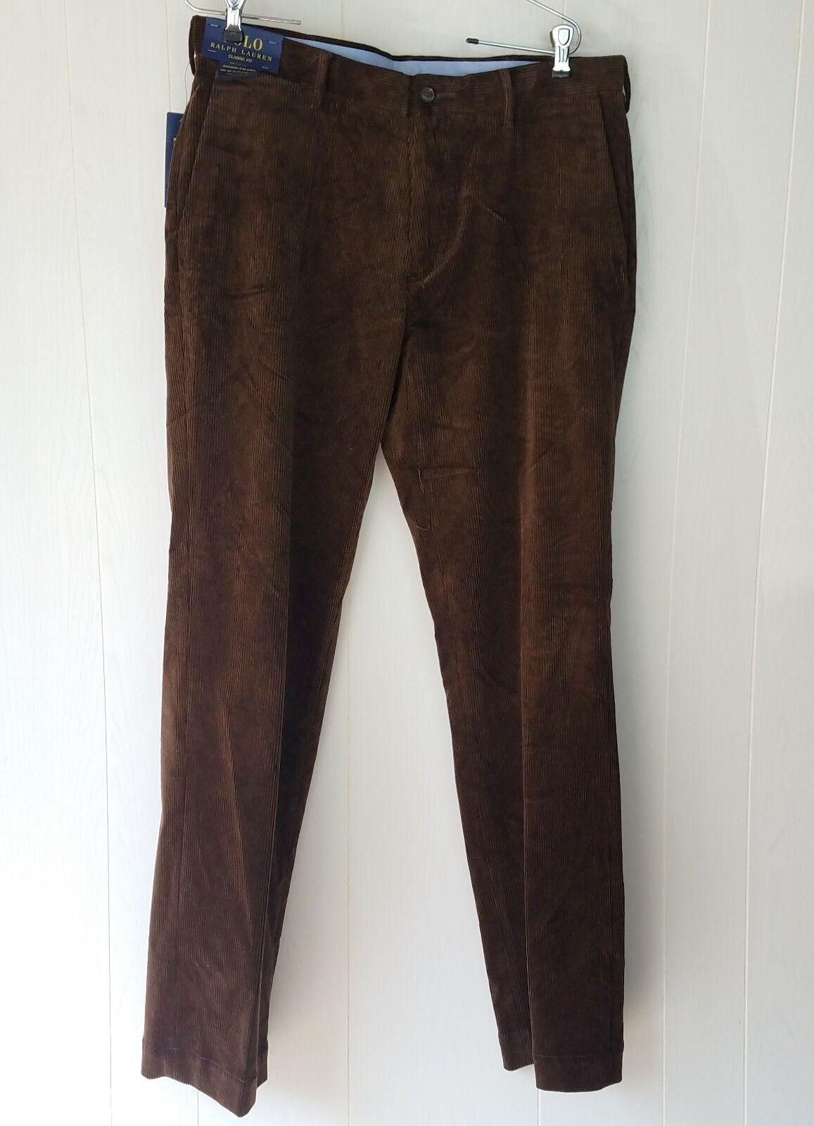 Polo Ralph Lauren Pants size 34 x 34 brown corduroy Men's Classic Fit