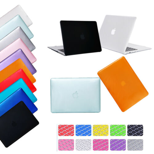 "Crystal Plastic Laptop Case + Keyboard Cover for Macbook Air Pro 11""12""13""15"""