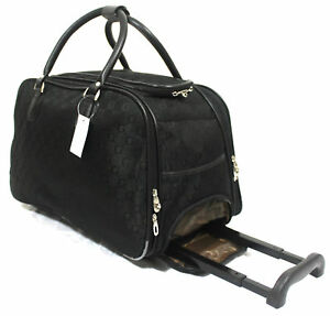 Designer-Inspired-Cabin-Approved-Trolley-Hand-Luggage-Holdall-Suitcase-Bag-Case