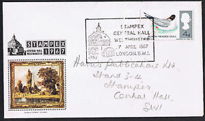 PHILATELIC-EXHIBITION-COVER-from-1967-STAMPEX-WESTMINSTER-SPECIAL-CANCEL