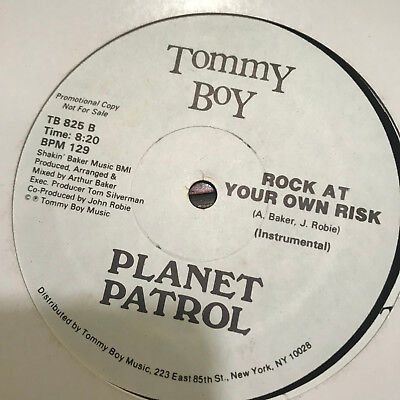 Planet Patrol Play At Your Own Risk Vinyl Record Rare Promo Hip Hop Electro  12