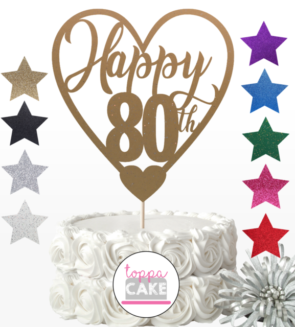 Terrific Happy 80Th Birthday Cake Topper Eighty Mum Dad Sister Brother Funny Birthday Cards Online Aboleapandamsfinfo