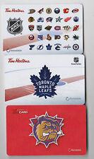 2016-17 Tim Horton's Gift Cards No $ Value Toronto Maple Leafs Hamilton Bulldogs