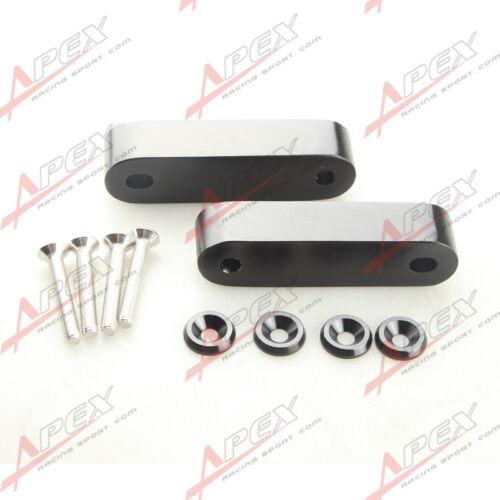Black Hood Spacer Risers Set Kit For 90-01 Acura Integra Honda Civic CRX