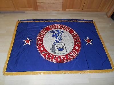 Banking & Insurance Old Central National Bank Of Cleveland Embroidered Flag Banner 69x49 Stunning Hot Sale 50-70% OFF Historical Memorabilia
