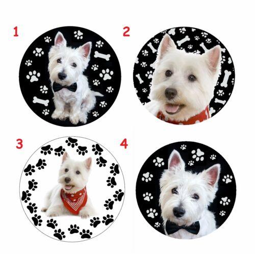 West Highland White Terrier  Hund dogTaschen Spiegel pocket  MIRROR  WK1
