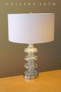 RARE-amp-GORGEOUS-MID-CENTURY-MODERN-TABLE-LAMP-50S-VTG-GLASS-ITALY-RAYMOR-RETRO