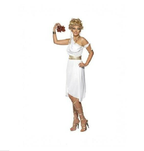 WHITE GREEK GODDESS COSTUME - WOMENS MEDIUM SIZE - MELBOURNE LOCATION