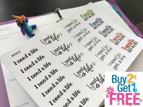 23pcs I need a life Life Planner Stickers for Erin Condren PP412