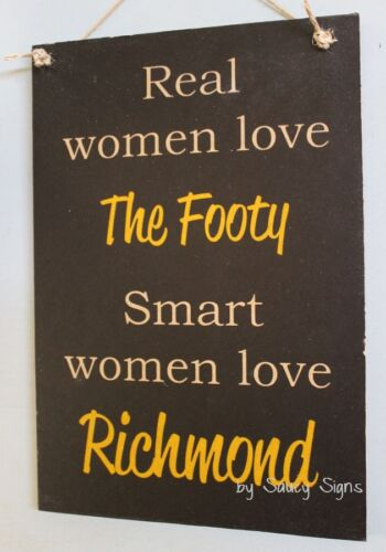 Tigers Bar Shed Kitchen Office BBQ Chic Real Women Richmond Aussie Rules Sign