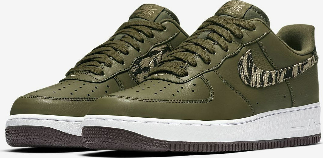 Nike Air Force 1 AOP PRM Tiger Camo SZ 10.5 Olive AQ4131-200