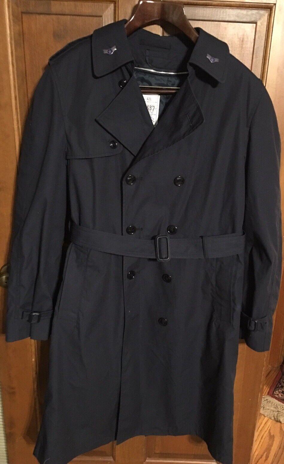 DSCP Herren Defender Collection Navy Blau All Weather W/Zip Liner Trench Coat 42L