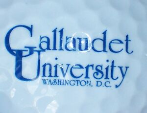(1) Calludet University Washington D.c. Ncaa Logo Balle De Golf-afficher Le Titre D'origine