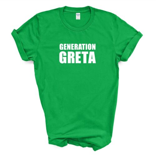 GENERATION GRETA T-SHIRT//CLIMATE STRIKE//SAVE THE PLANET//KIDS//LADIES//MENS