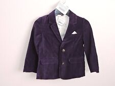 Mini Boden Roald Dahl Velvet Willie Wonka Jacket Blazer 5-6Y Purple Easter NWT