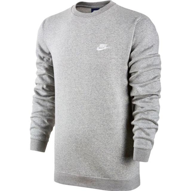 9ce642ae81e7 Nike Mens Club Crew Fleece Sweatshirts 804340 Gray 063 2xl for sale ...