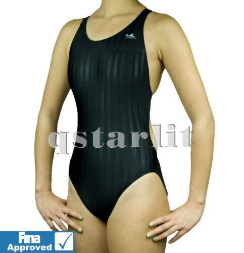FINA Girls Women Endurance Racing Competition Training Swimsuit Swimwear 22-34