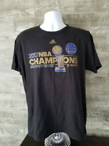 new arrival 1b543 5a918 Details about Golden State Warriors 2017 NBA Finals Champions Locker Room  Adidas T-Shirt Large