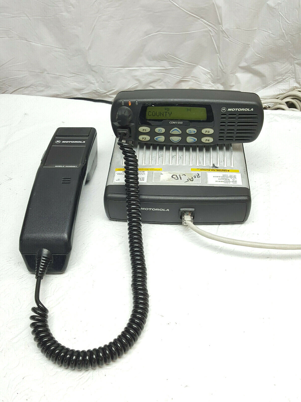 Motorola CDM1550 Low Band VHF w/ Remote Head 42-50MHz & Mobile Telephone Handset. Available Now for 265.99