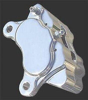 CHROME BRAKE CALIPER 4 PISTON FRONT HARLEY FXR SUPER GLIDE