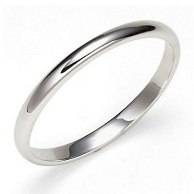 18K Gold Plated Wedding Band 4mm Ribbed Ring Size 6 7 8 9 10 11 12 13 New