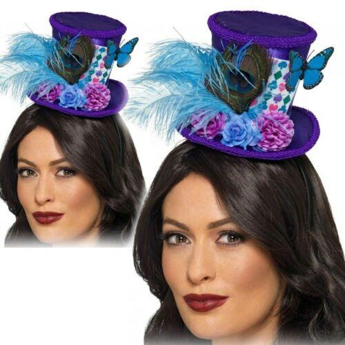 Mad Hatter Mini Top Hat Adults Alice In Wonderland Tea Party Fancy Dress Hat