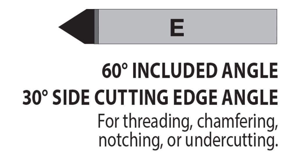 "C-8 1//2/"" Diameter 0° Square Nose Carbide Tipped Tool Bit C5//C6 Lexington USA"