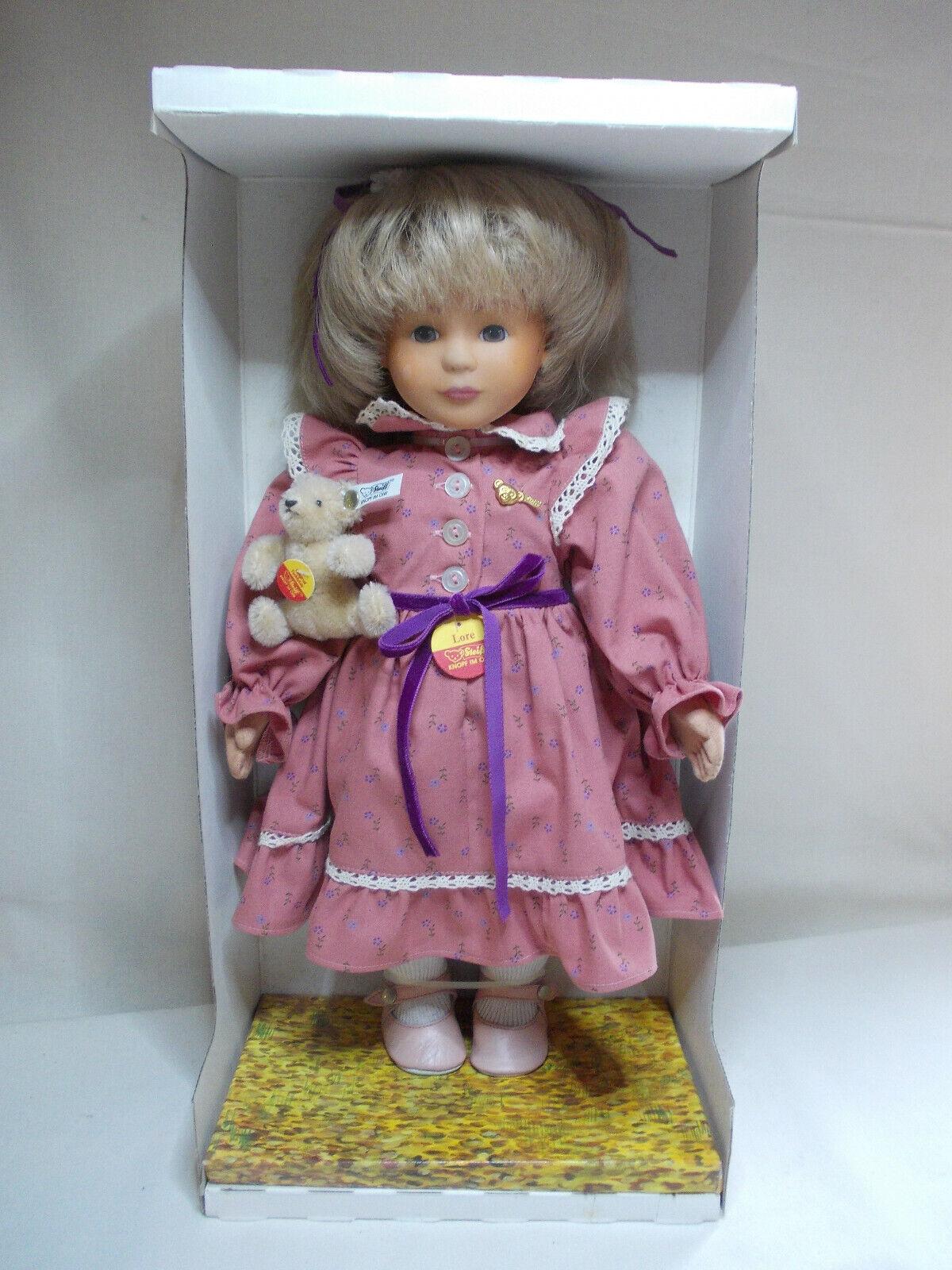Steiff   Doll Lore mit Teddy  Höhe ca. 42 cm OVP