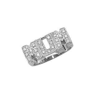 schulter Design Kann Lower Price with Sterling Silber 925 Mit Steinen Besetzt 'mama' Ring Fine Jewelry