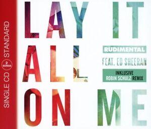 Rudimental-Feat-Ed-Sheeran-Lay-It-All-On-Me-2-Track-CD-Maxi-Warner-Mus-NEW