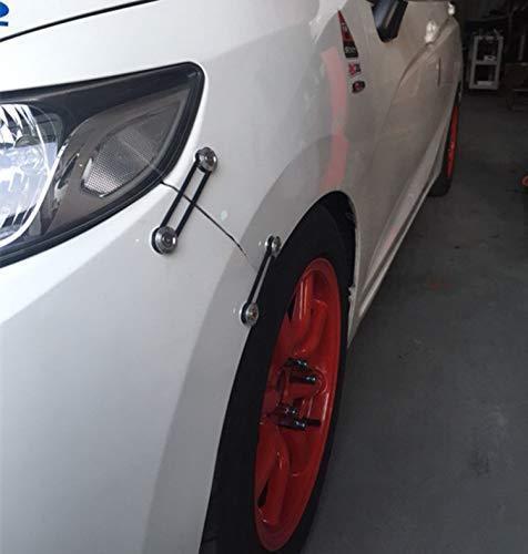 Gray Aluminum Quick Release Fasteners Kits for Subaru Front Rear Bumper Fender