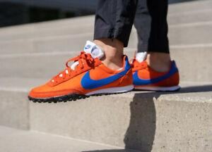 Nike Waffle Racer Mens Orange Blue