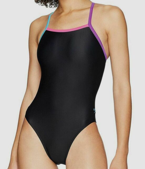Speedo Womens Swimsuit One Piece Prolt Propel Back Solid