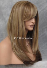 Blonde mix bangs Straight Lace Front HEAT SAFE Wig Long silky Wig HSO GF8642
