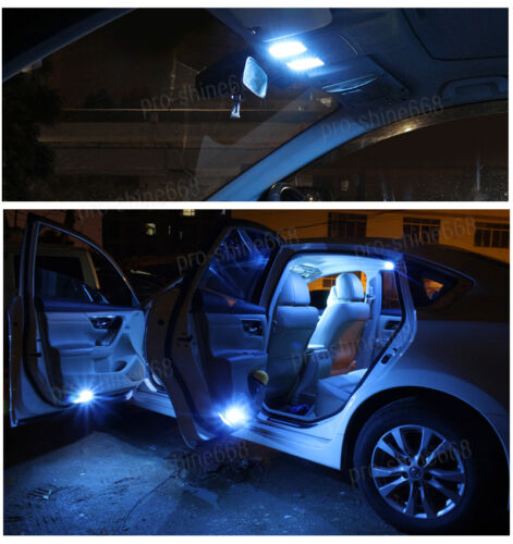 14-pc Blue 10K LED Car Interior Light Bulbs Package Kit Fit 2001-2003 Acura CL