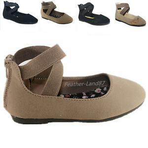 New kid/'s Girl/'s Mary Jane Casual Ankle Strap Zipper Dress Ballet Flats Shoes