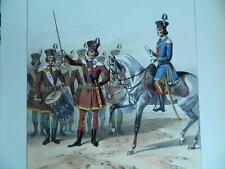 XIX ancienne Litho réhaussée Elèves du Champ de Mars Alfred Marbot gravure DAVID