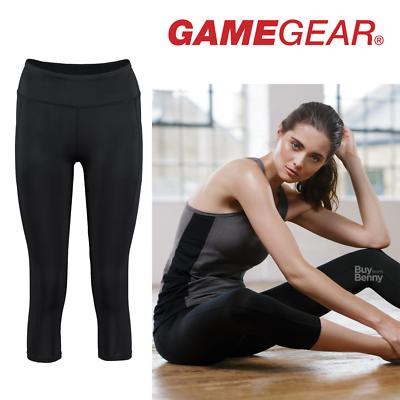 Aus Dem Ausland Importiert Gamegear 3/4 Length Leggings Zipped Key Pocket Gym Sport Workout Yoga Ladies New Um Das KöRpergewicht Zu Reduzieren Und Das Leben Zu VerläNgern