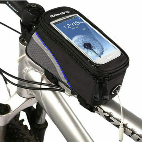 Rainproof Bike Bicycle Frame Pannier Front Tube Bag Case Pouch Holder For Phone