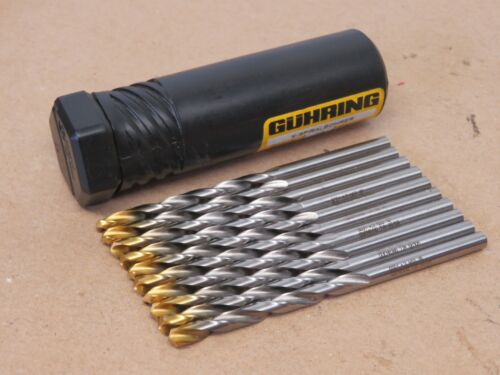 9651 TiN Coated Tip HSS Straight Shank Jobber Drills Pack of 10x Guhring No
