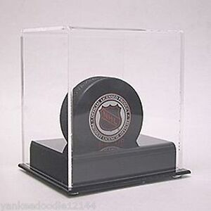 (6) New SafTgard AD31 Deluxe UV Acrylic Hockey Puck Holder Displays