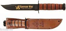 KA-BAR #9105 U.S. ARMY KOREAN WAR COMMEMORATIVE FIGHTING UTILITY KNIFE w/ SHEATH